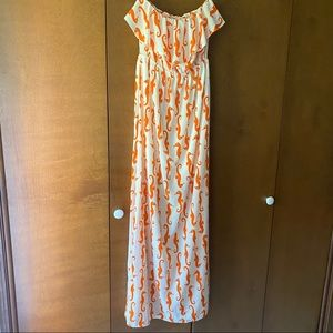 Strapless Maxi NWOT Peach Love Cream. Sz Small.